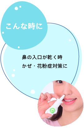 こんな時に 鼻の入口が乾く時 かぜ・花粉症対策に
